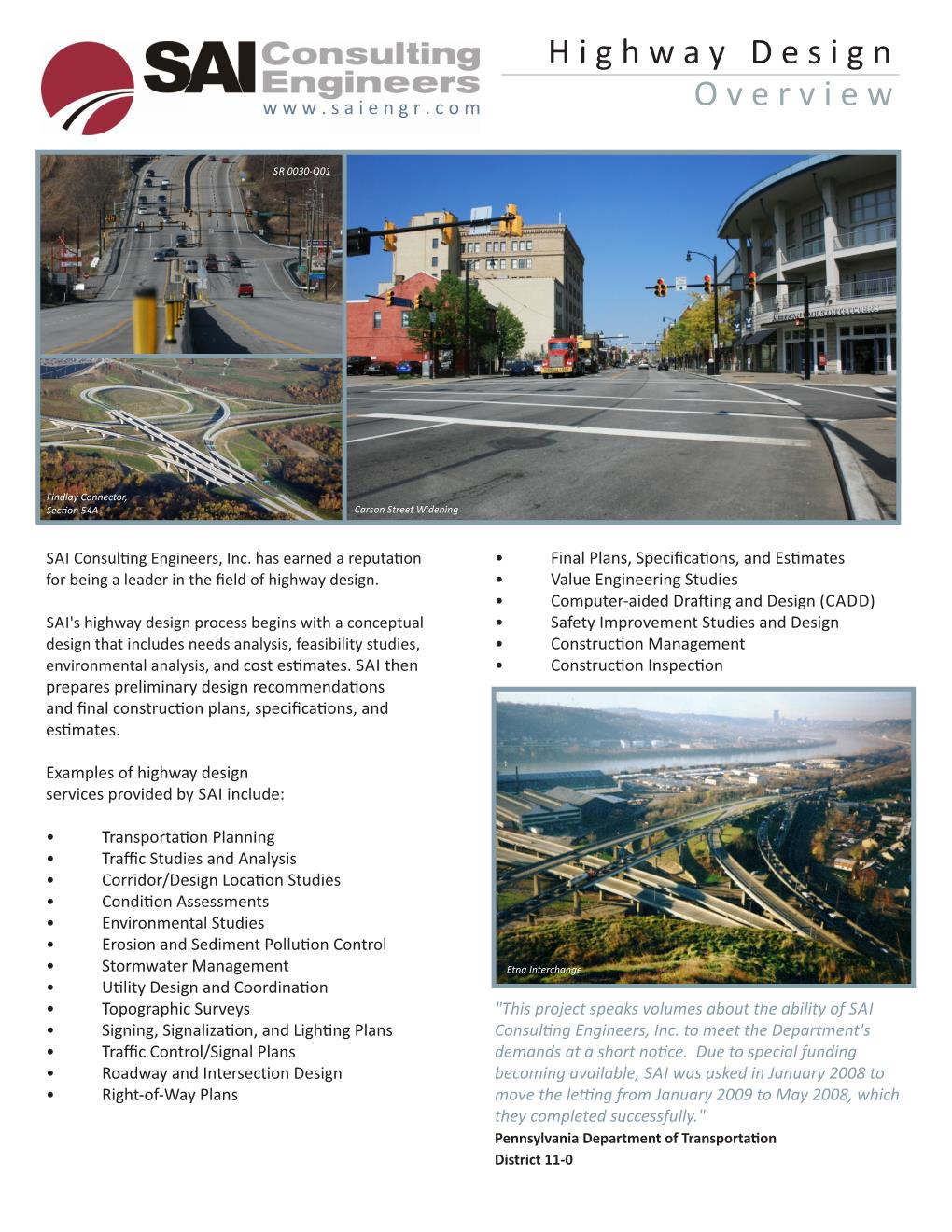 Highway Design – SAI Consulting Engineers